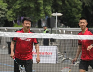 Chinese stars endorse AirBadminton