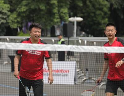 Chinese stars endorse AirBadminton